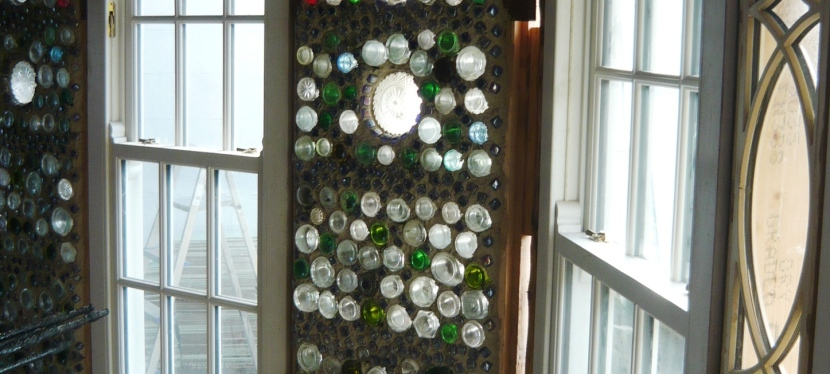 A bottle wall with a difference.