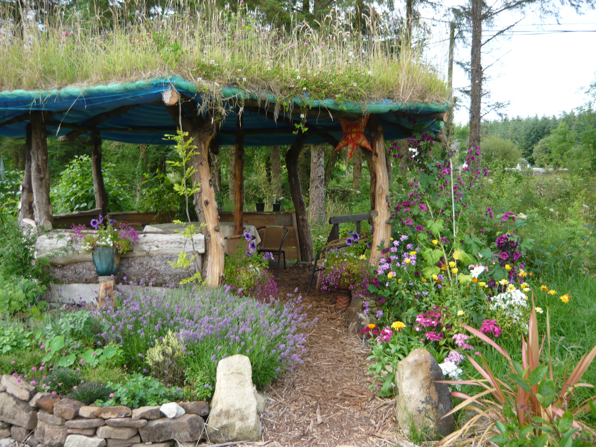Building A Gazebo With Living Roof Part 1