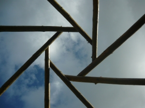 Roof beams.