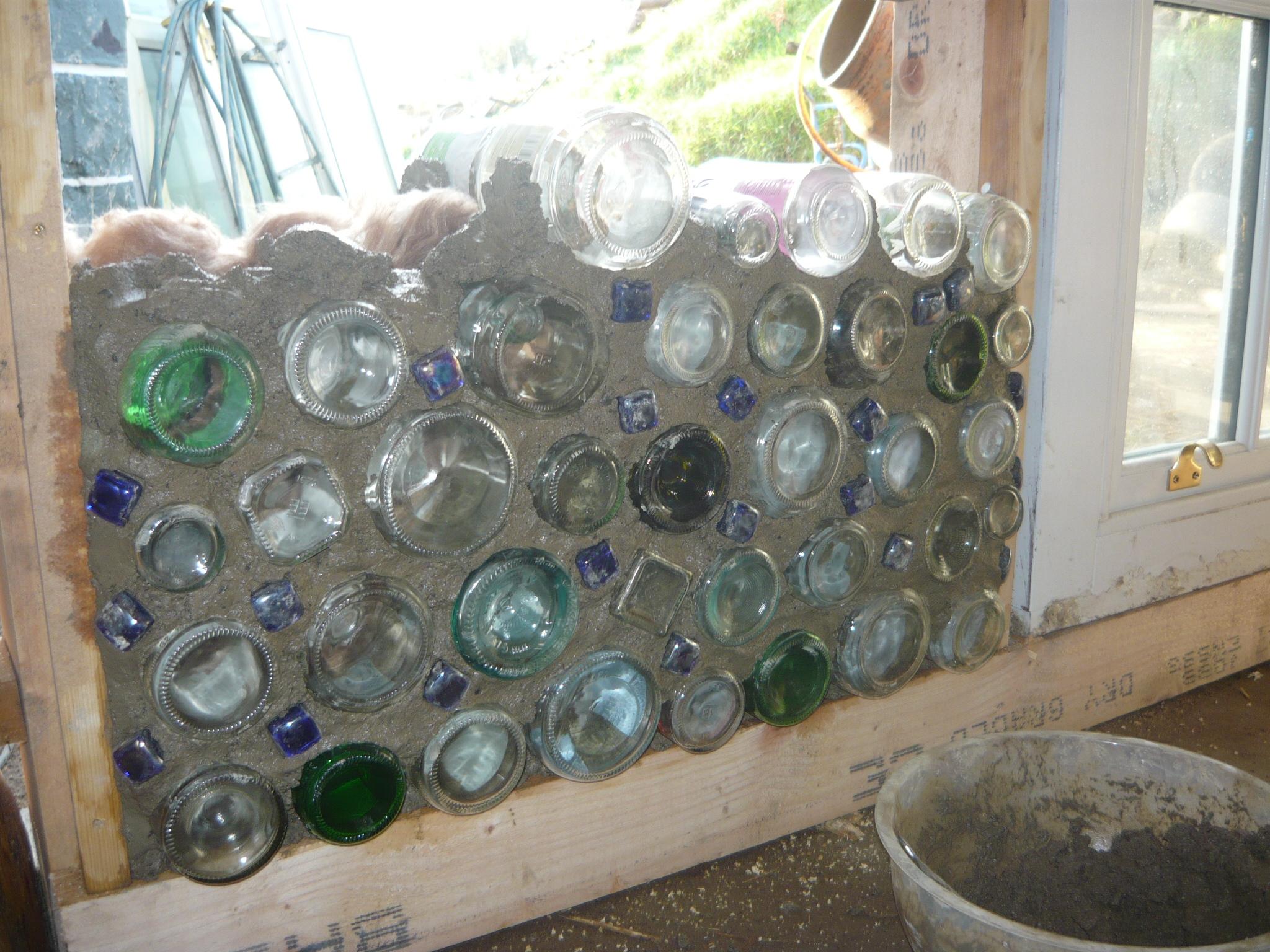 Glass Bottle Wall Thegreenerdream