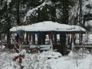 Gazebo in winter.