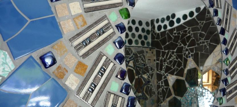 Designing mosaics.