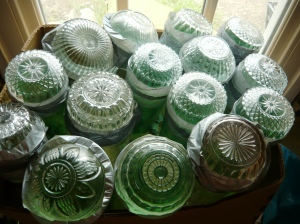 bottle-wall decorative bowls