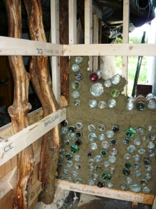 bottle-wall outside