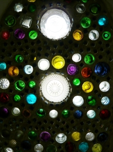 August bottle wall