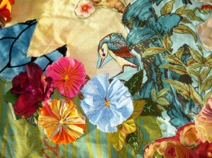 tapestry birds and flowers