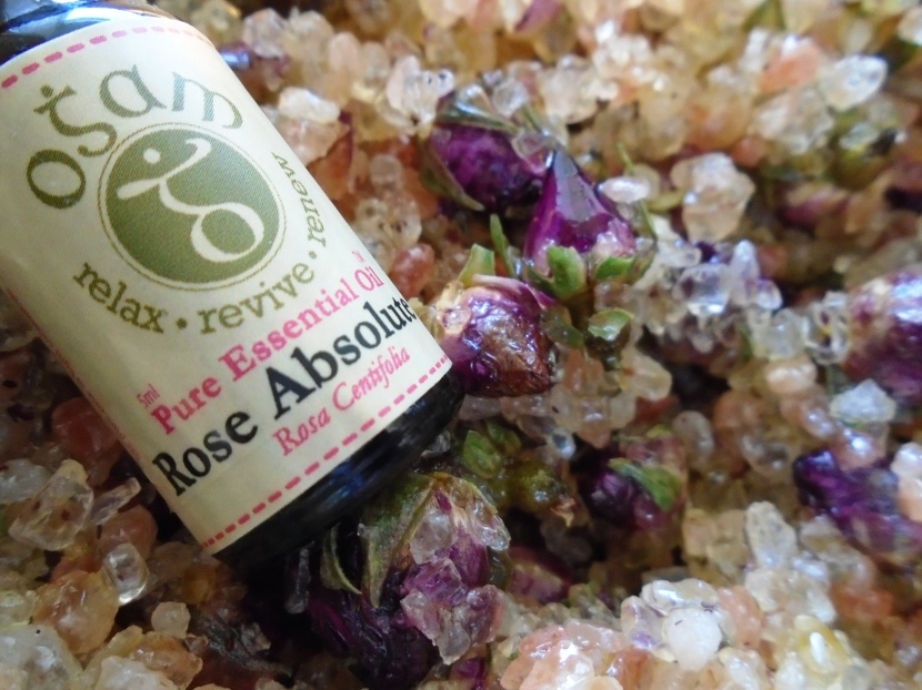 Rose bath salt.