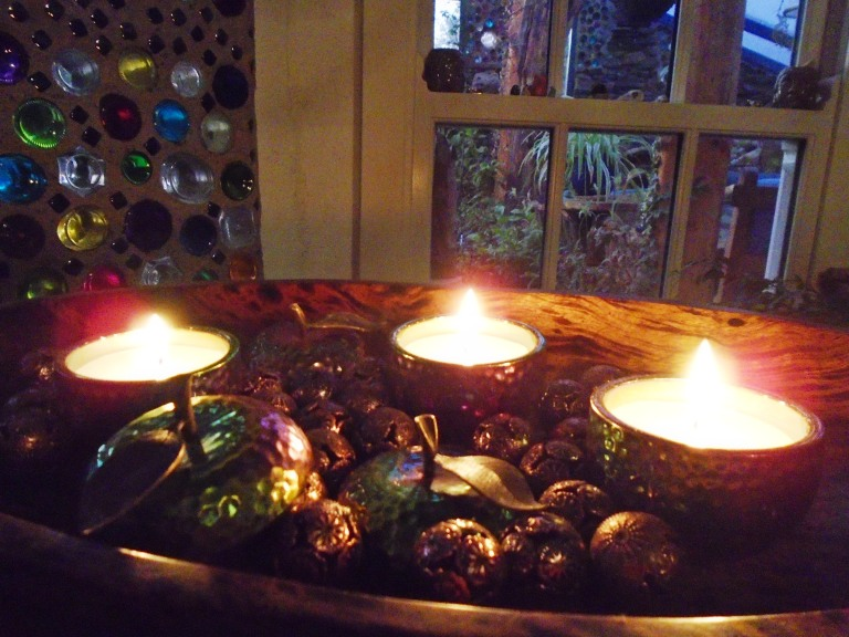 garden and candles 105